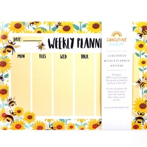 Bumble Bee A4 Recycled Weekly Planner Pad