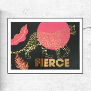 FIERCE LEOPARD - GOLD FOIL - FierceII leopard goldfoil 500x500