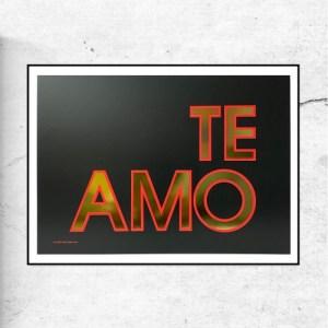 TE AMO GOLD FOIL - SPECIAL EDITION PRINT - TeAmo black goldfoil frame 500x500