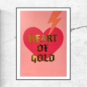 HEART OF GOLD - GOLD FOIL - SPECIAL EDITION PRINT - HeartofGold goldfoil frame 500x500