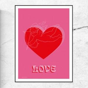 LOVE CUPID - ART PRINT - LOVE CUPID doodlemoo 500x500