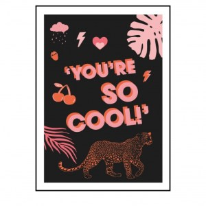 YOU'RE SO COOL - LEOPARD PRINT - youresocool black 500x500