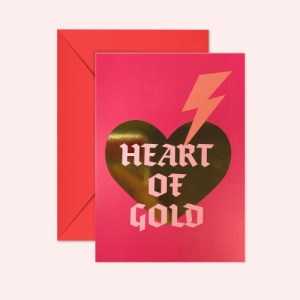 HEART OF GOLD - GOLD FOIL GREETING CARD - Heartofgold GoldFoil Card 500x500