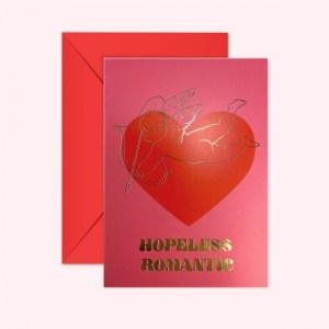 HOPELESS ROMANTIC - GOLD FOIL - GREETING CARD - HopelessRomantic card 2cfde275 d4c3 464d 822c 87b5aeefe38f 1200x 500x500