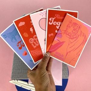TOGETHER LEOPARDS – GREETING CARD