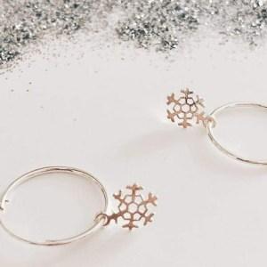 Silver Christmas Hoop Earrings - 186875 47cd00e6e0ccf5 500x430
