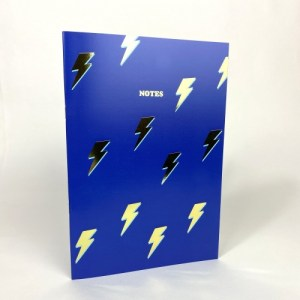 LIGHTNING BOLTS NOTEBOOK WITH GOLD FOIL DETAILS - Lightning notebook 1200x 500x500