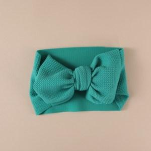 Baby Headband Bows - LilleLove - Emerald Green - IMG 9502 500x500