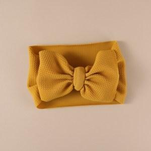 Baby Headband Bows – LilleLove – Mustard