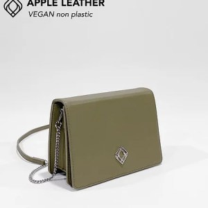CLUTCH – Apple Leather – Olive Green