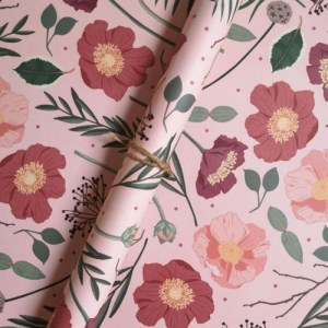 Blush Botanical Gift Wrap Sheet