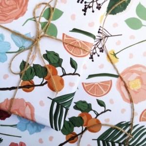 Bramble Botanical Gift Wrap Sheet
