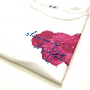 Hand Embroidery Shining Bright T-shirt - IMG 0304 500x500
