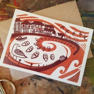 "Custom House Quay, Falmouth, Cornwall seaside 7x5"" recycled greeting card - il 794xN.2986477207 cwyu1 500x500"