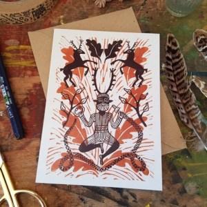 "Cernunnos Gundestrup Cauldron 7x5"" recycled greeting card - il 794xN.2986430543 k31q1 500x500"
