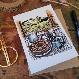 "Ciambella afternoon tea & cake 7x5"" recycled greeting card - il 794xN.2938765688 klt61 500x500"