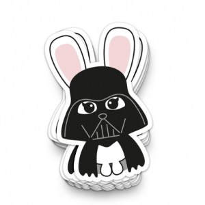 STICKER XL STAR WARS DARTH BUNNY