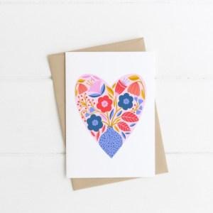 Botanical Heart #2 Greetings Card