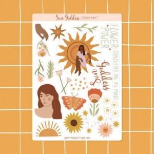 Sun Goddess sticker sheet