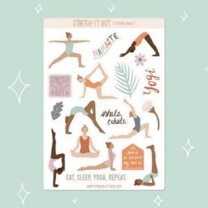 Yoga sticker sheet