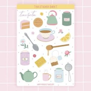 Tea sticker sheet