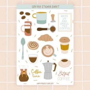 Coffee sticker sheet