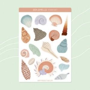 Sea shells sticker sheet
