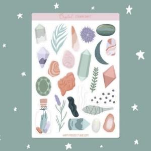 Crystal sticker sheet