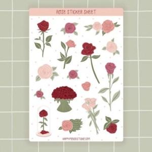 Rose sticker sheet