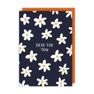 Daisies Greeting Card pack of 6 - daisies env 500x500