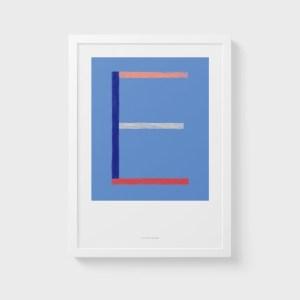 Alphabet Wall Art Print: Initial Letter E