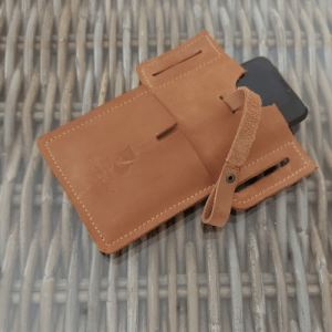 Phone case. Leather belt holster phone / 6 colors available in nubuck leather.