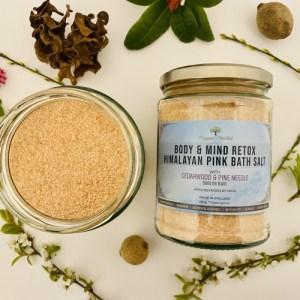 Body & Mind Retox – Himalayan Pink Bath Salt with Cedarwood & Pine Needle