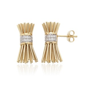 Small Icon 3D Broom Earrings - file1 6