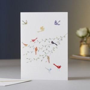 Birds on a Branch Blank Greeting Card
