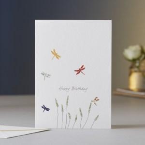 Dragonflies & Grass Birthday Card