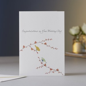Two Birds Wedding Card