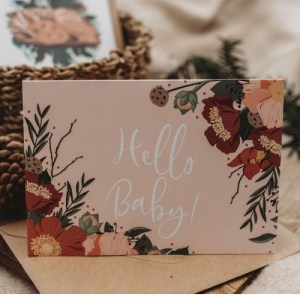 Hello Baby!   A6 Greetings Card