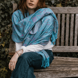 Vintage Butterfly & Tassel Pashmina Scarf - Neon Blue - Screen Shot 2021 04 15 at 19.53.37 500x500