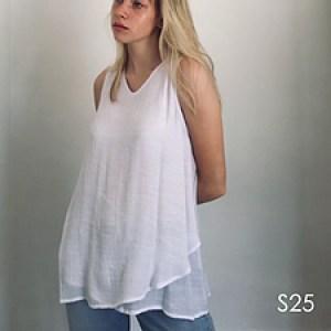 V neck Layered Vest