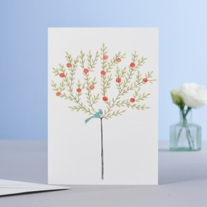 Orange Tree Blank Card