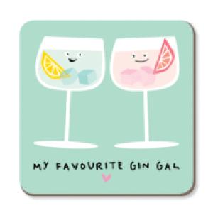 My Favourite Gin Gal Boozy Coaster