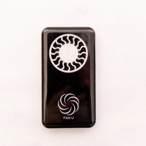 FanU portable and rechargable fan – Black