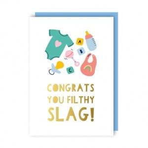 Filthy Slag Greeting Card pack of 6 - filthy slag env 500x500