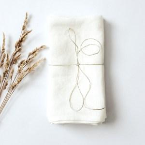 Linen Napkins 2 Pcs White
