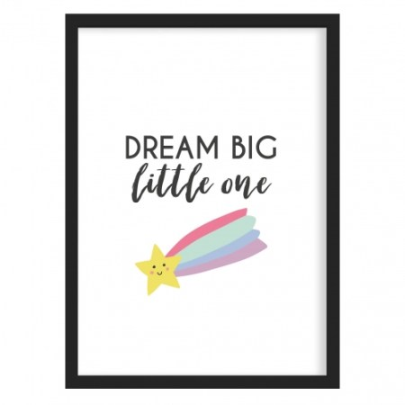 Dream Big Little One Rainbow Nursery Art