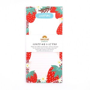 Strawberries Shopping List Notepad