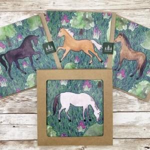 Horse greetings cards (pack of 12)