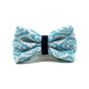 Turquoise & Dove – Barclay Design – Handmade Dog Bow Tie