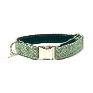 Green & Dove – Harris Design – Dog Collar